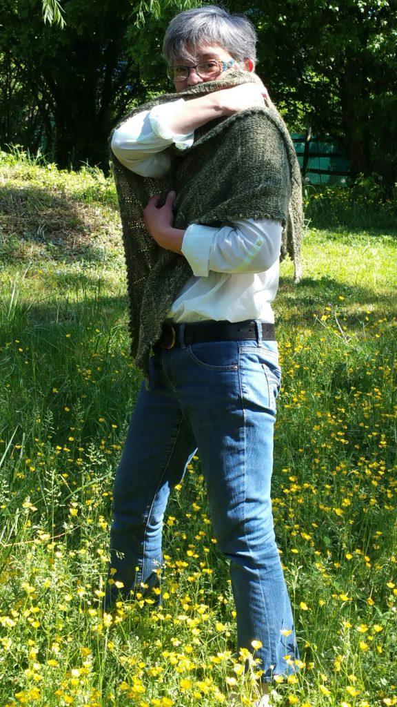 # Châle Saint-Mao, modèle du site Soie et laine