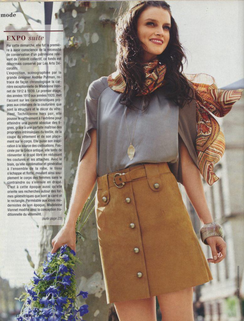 # Jupe trapèze Burda style n° 117 septembre 2009, modèle 125