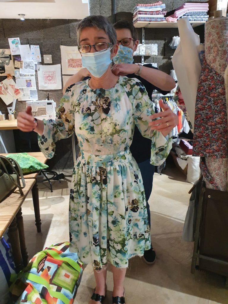 # Robe en soie et coton, modèle Burda n° 122 de novembre 2016 (n° 203)