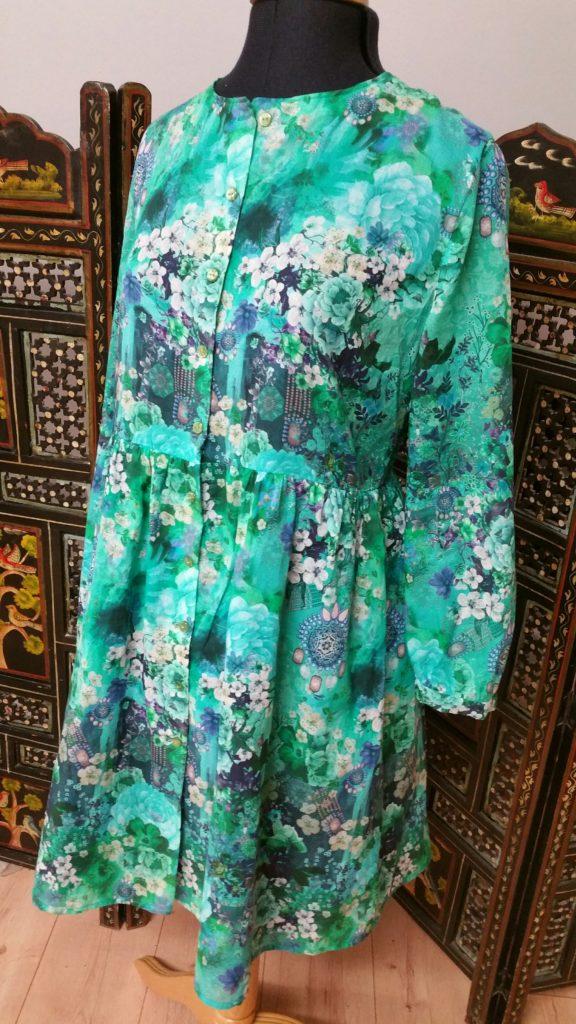 # Robe chemise / tunique Fashion Style n° 14, modèle 20 (mars 2017) Voile de coton du Fil amant